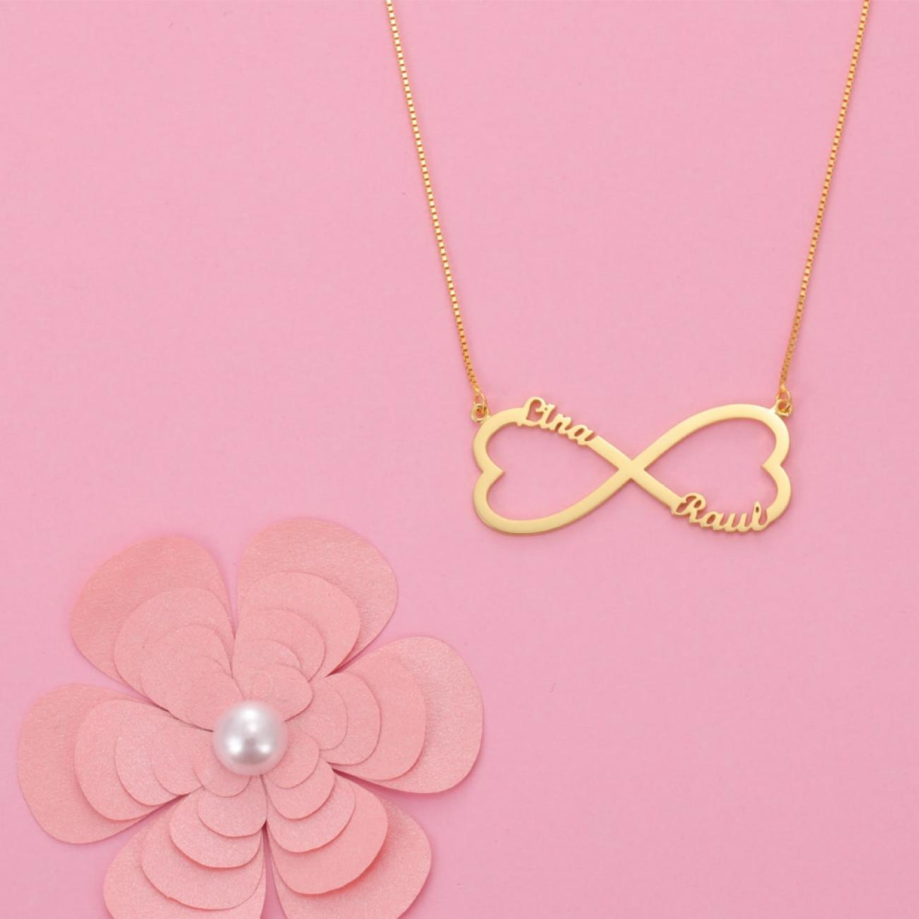 Heart Infinity Name Necklace