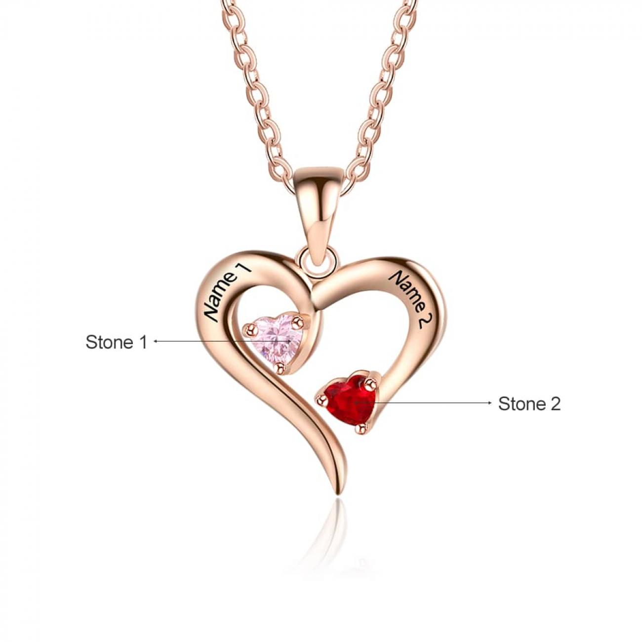 Modern Heart Necklace