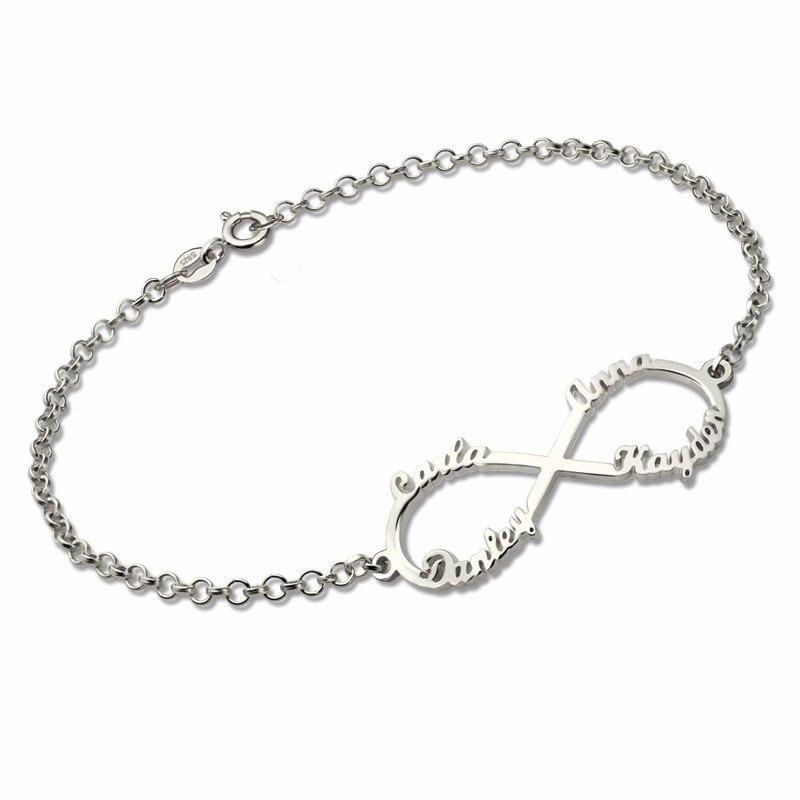 Räumungspreise schnüren in elegant im Stil Armband mit Gravur Infinity Kette