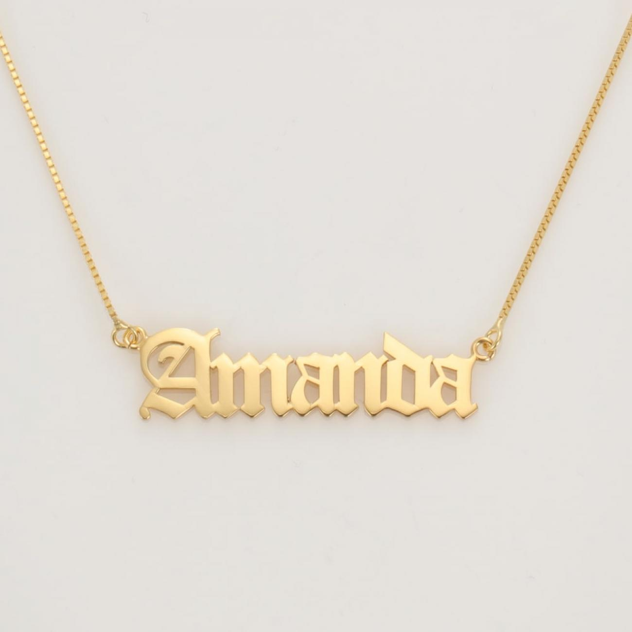 Name Necklace Rock