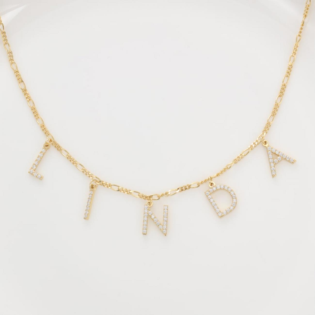 Letters name necklace Luxury 3.0
