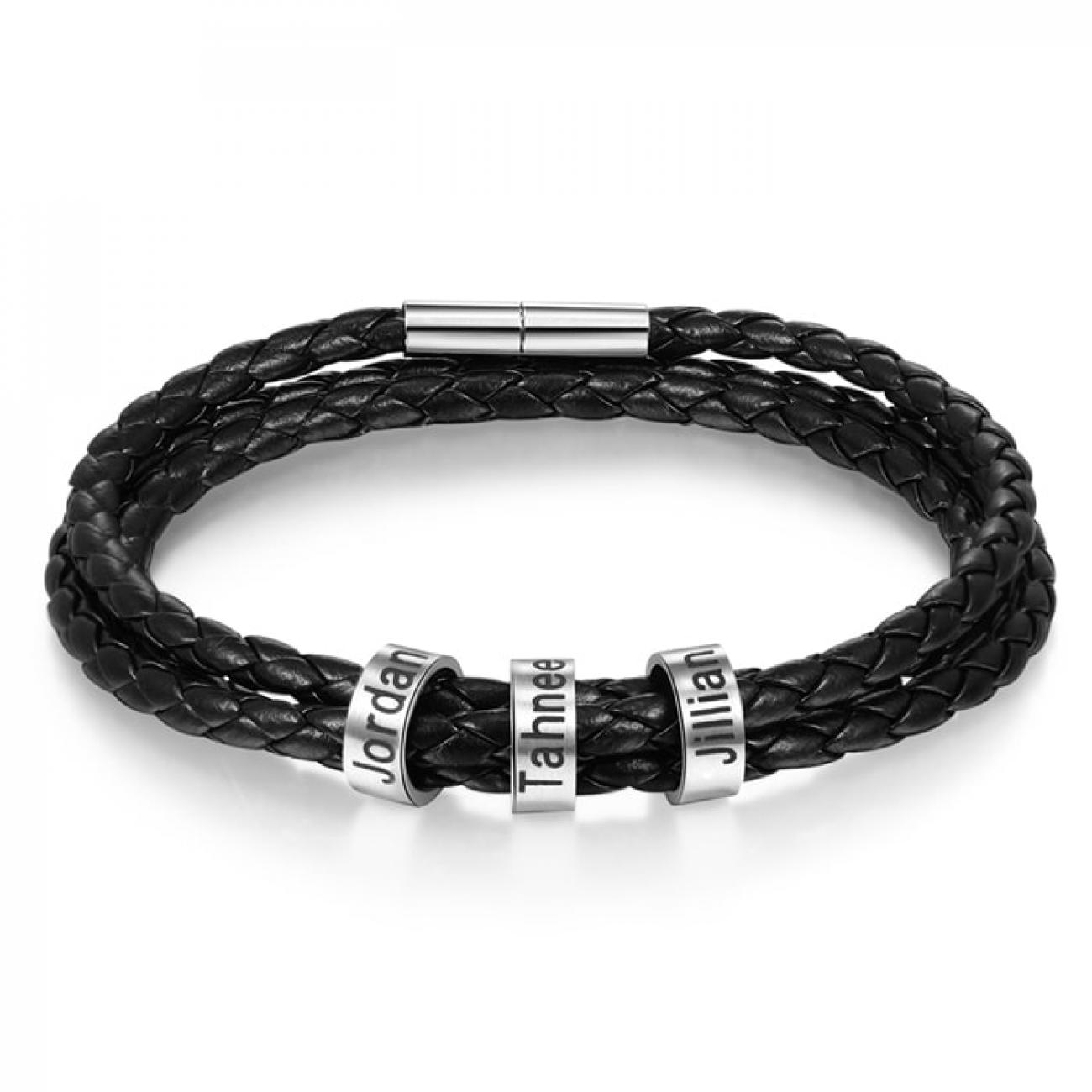 Men Bracelet with 3 engravings