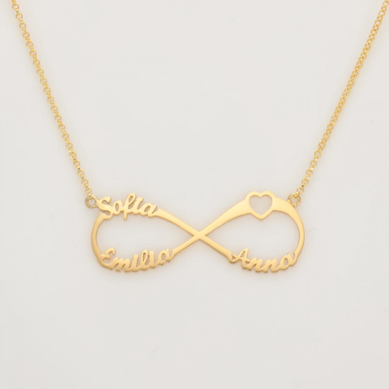 Name Necklace Infinity Style